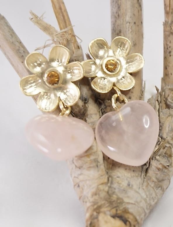 pendientes-corazon-rosa